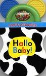 hallo baby contrastboekje kartonnenboekje en rammelaar