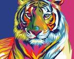 Schilderen op nummer Regenboog Tijger / Artventura