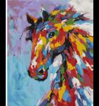 Schilderen op nummer Regenboog Paard / Artventura