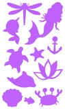 Fantasy Model glitter tatoeage set MERMAID / TOPModel 3