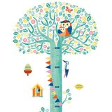 Muursticker groeimeter bloemenboom / Djeco