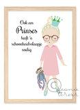 Poster Meisje Pyjama Prinses / Leonie Verver_