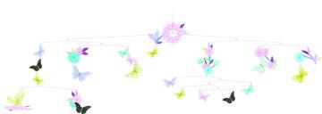 Mobiel Vlinders en bloemen / Djeco