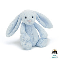 Konijn Bashful Blue Bunny Rattle / JellyCat