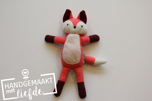 Knuffel vosje roze / Handgemaakt met liefde
