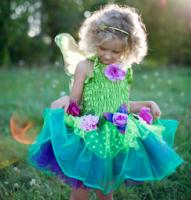 Feeënjurk bloemen met vleugels M / Great Pretenders