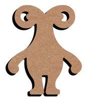 Houten knutselfiguur Meneer Monster / Foam Clay (Gomille)