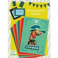 Verjaardagsuitnodigingen Piraten / Djeco
