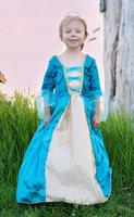Koninginnenjurk blauw L / Great Pretenders