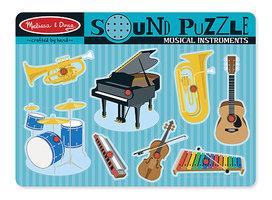 Houten geluidpuzzel muziekinstrumenten / Melissa & Doug