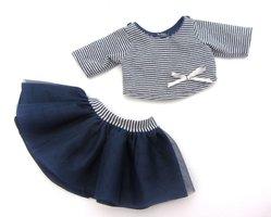 Poppenkledingsetje donkerblauw Bretons (meisje) / Paola Reina