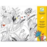 Grote kleurplaat - het vlinderfeest 126 cm / Djeco