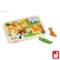 Chunky puzzel - dierentuindieren / Janod