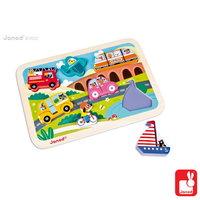 Chunky puzzel - voertuigen / Janod