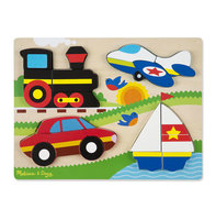 Houten chunky puzzel voertuigen / Melissa & Doug