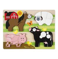 Houten chunky puzzel boerderijdieren / Melissa & Doug