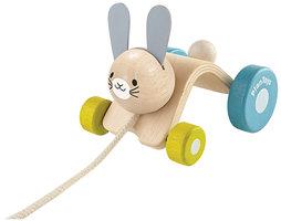 Trekdier springend konijn / PlanToys
