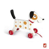 Trekfiguur - Crazy Rocky witte hond / Janod
