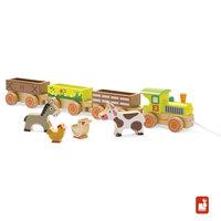 Story - trekfiguur trein boerderij / Janod
