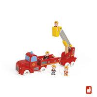 Vrachtwagen - brandweer 4 brandweermannen / Janod