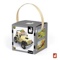 Lovely puzzel - Jack's  terreinwagen (2 in 1) / Janod