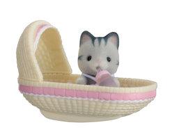 Baby Draagdoosje: kat in wiegje / Sylvanian Families