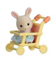 Baby Draagdoosje: konijn in wandelwagen / Sylvanian Families