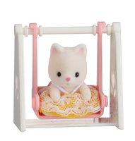 Baby Draagdoosje: kat op schommel / Sylvanian Families