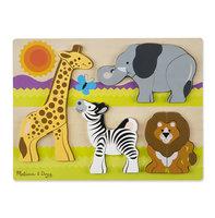 Houten chunky puzzel safari / Melissa & Doug