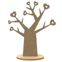 Houten Hartenboom met standaard / Foam Clay (Gomille)