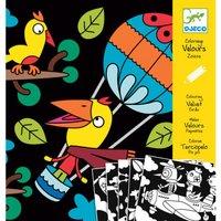 Fluwelen kleurplaten Vogels / Djeco