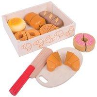Houten brood en koek in krat / BigJigs