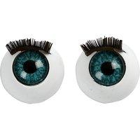 Grote ogen met wimpers 12 mm / Hobby