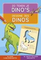 Zo teken je dino's - 16 leuke sjabloonkaarten / Deltas