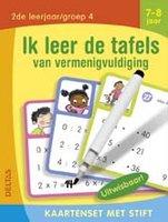 Kaartenset met stift - Ik leer de tafels van vermenigvuldiging (7-8 jaar) / Deltas