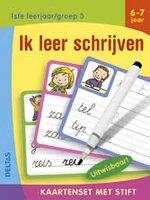 Kaartenset met stift - Ik leer schrijven (6-7 jaar) / Deltas