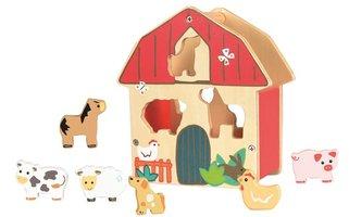 Houten vormenbox boerderij / Egmont Toys