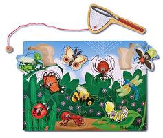 Houten magnetisch puzzelspel vlinders en insecten / Melissa & Doug