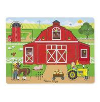 Houten geluidpuzzel boerderij / Melissa & Doug