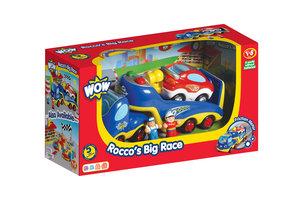 Rocco's racewagen met oplegger/WOW Toys