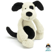 Hond Bashful Black and Cream Puppy Chime / JellyCat