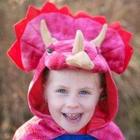 Dinocape Triceratops rood 3-6 jaar / Great Pretenders
