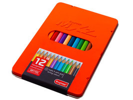 12 kleurpotloden triple soft feel MXZ rood blik / Bruynzeel