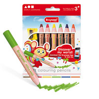 6 kleurpotloden soft colouring pencils 2205K / Bruynzeel