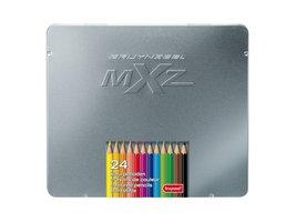 24 kleurpotloden in zilver blik MXZ 7524M24 / Bruynzeel