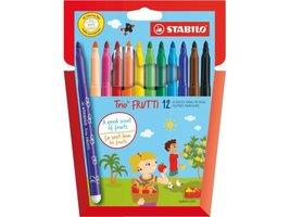 12 trio frutti geurstiften / Stabilo