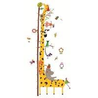 Muursticker groeimeter giraf / Djeco