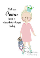 Poster Meisje Pyjama Prinses / Leonie Verver