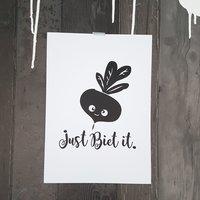 Poster wit Let's biet it / Raaf10