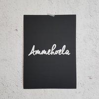 Poster zwart Ammehoela / Raaf10